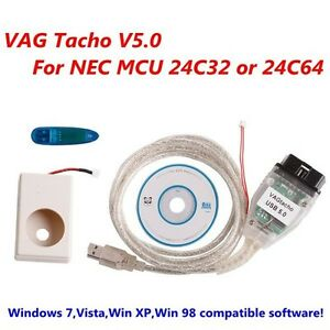 Vagtacho Usb V5 0 Vag Tacho V5 0 For Nec Mcu 24c32 Or 24c64 High Quality
