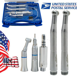 Usa Dental Handpiece Kit Fit Nsk 2pcs High Speed Push Button E type Low Speed