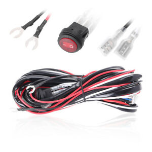12v 40a Led Work Fog Light Bar Wiring Harness Relay Kit On Off Switch Offroad