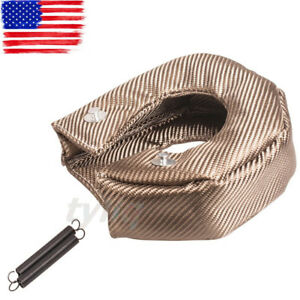 Titanium Turbo Blanket Heat Shield Barrier Turbo Charger Cover T6 T88 T5 Free Us