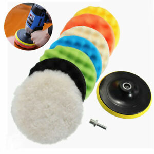 8pcs 5 6 7 Polishing Waxing Buffing Sponge Pads Kit Compound Car Polisher