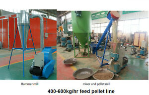 Small Pellet Mill Line 600kg h For Balanced Animal Feed Milling Mixing