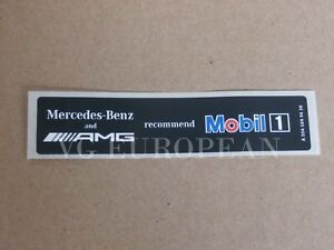Mercedes benz Genuine Amg Mobil 1 Oil Sticker Label Decal New
