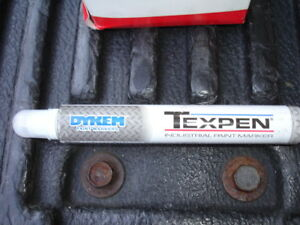 Dykem Texpen Industrial Steel Tip Paint Marker White Medium Tip 16083 Qty 12 New