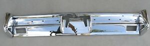 X Lincoln New Triple Plated Chrome Rear Back Bumper 1964 1965 64 65 Oem