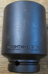 Unused Nos Wright 89 60 60mm Deep Well Impact Socket 6 Point 1 Inch Drive
