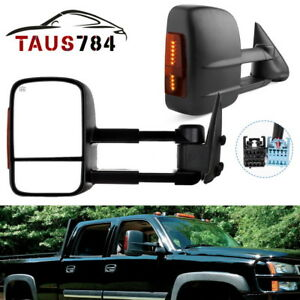 Tow Mirrors Power Heated Led Signals For 03 06 Chevy Silverado Gmc Sierra 1500