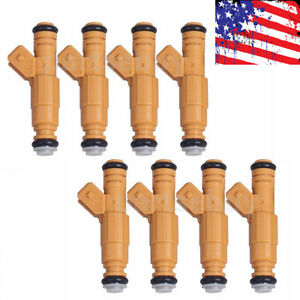 8pcs Oem Bosch 22lb Fuel Injector For Camaro Corvette Firebird 5 7l Tpi Engine