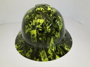 Full Brim Hard Hat Custom Hydro Dipped New Full Color Joker Harley New