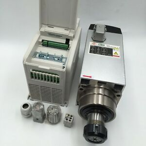 220v Spindle Motor Kit 4 5kw Er32 Collet 18000rpm vfd Inverter Driver Cnc Router