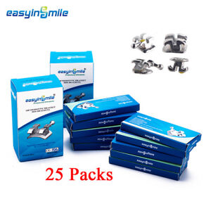 25packs Easyinsmile Dental Brackets Mini Roth 022 3w h Orthodontic Teeth Braces