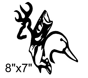Buck Duck Fish Decal Sticker Browning Deer Hunting Bow Arrow
