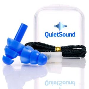 Ear Plugs Noise Cancelling Reusable For Sleeping Shooting Music Blue Silicone Us
