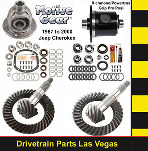 Motive Dana 35 30 Gear Set Pkg W Master Kit 4 56 Ratio Detroit Truetrac Posi
