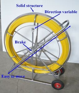 Fish Tape Fiberglass Wire Cable Rod Duct Rodder Puller 12mm