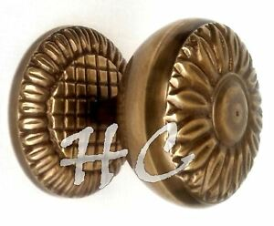 Vintage Designer Entry Door Knob 2 Victorian Style Antique Brass Door Handle