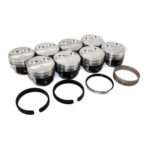 Speed Pro Chevy 350 Flat Top 4 Vr Pistons Moly Rings Sbc H345dcp Std