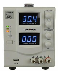 Tekpower Tp3005dm Linear Adjustable Digital Dc Power Supply 30v 5a With A