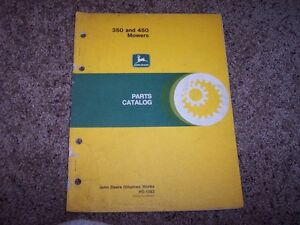Jd John Deere 350 450 Mower Part Catalog Manual Pc1382 Pc 1382