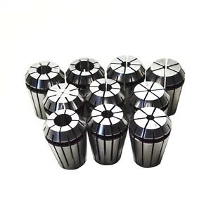 10pcs Er16 Collet Set Ranging From 1mm To 10mm For Cnc Chuck Milling Lathe