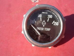 Vintage Faria Corp 100 250 Degree Electric Water Temp Gauge Hot Rod Boat