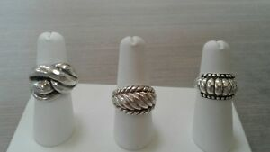 925 Sterling Silver Rings Lot Great Pre Owned Condition 22 4 G Weight