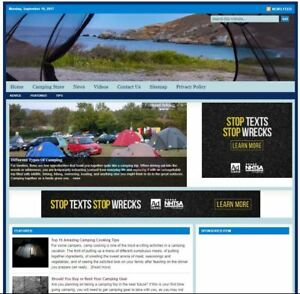 camping Turnkey Website For Sale turnkeypages