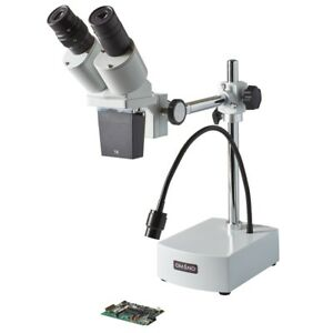 Om b10 l Led 10x Integrated Boom Stereo Microscope
