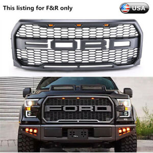For 2015 2016 2017 Ford F150 Raptor Conversion Packaged F R Letter Grille Grill