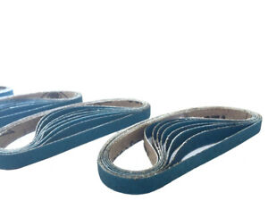 3 8 Inch X 13 Inch Zirconia Cloth Sanding Air File Belts 30 Pack 60 Grit