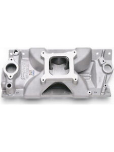 Edelbrock Intake Manifold Victor Jr Single Plane Square Bore Chevy Sb 2975