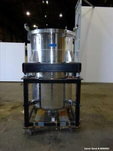 Used Tank Approximate 250 Gallon 316 Stainless Steel Vertical Approximate 3