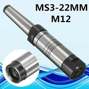 22mm Mt3 Ms3 Shank Morse Taper Milling Arbor Gear Cutter Holder For 13mm Bore