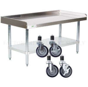 24 X 48 Heavy Equipment Stand W Casters Stainless Steel Work Table Commercial