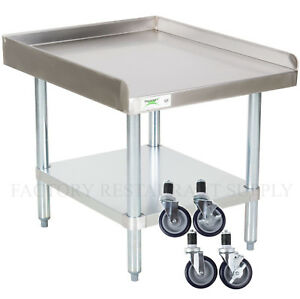 30 X 24 Heavy Equipment Stand W Casters Stainless Steel Work Table