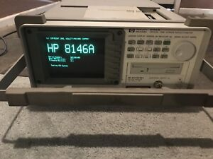 Used Hp 8146a W opt 81465sh Module Optical Time Domain Reflectometer Printer
