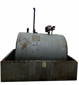 500 Gallon Tuthill Diesel Fuel Oil Storage Tank With Fill rite Pump Above Ground