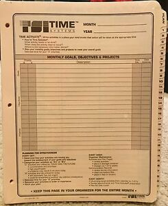 Tsi Time Systems Inc 6 Months Worth Of Daily Planner Refill Pages 3 Holes New