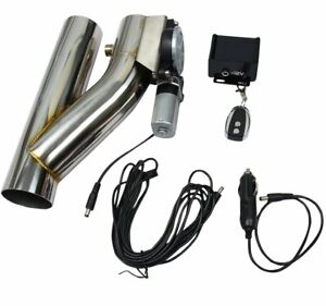 E Cut Out Valve Controller Kit 3inch Electric Exhaust Remote Finely Processed