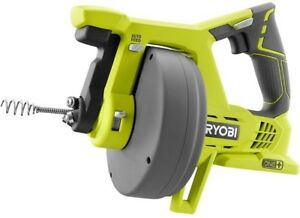 Ryobi 18 volt One Drain Auger Plumbing Cleaning Pipe Clog Sink Shower Tub Clean