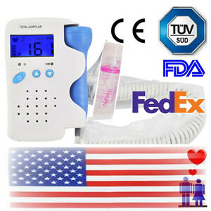 Usa Fetal Doppler Heart Detector Baby Sound Beat Rate Monitor With 3mhz Probe Ce