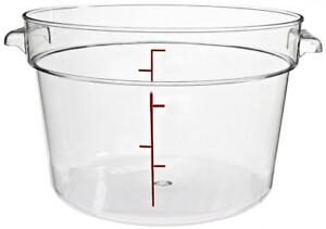 New Cambro Camwear Clear Polycarbonate Round Food Storage Container Kitchenware