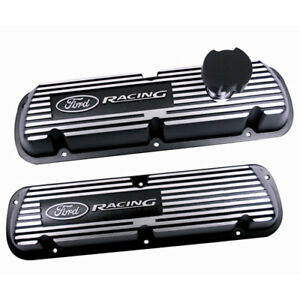 Oem New 86 93 Ford Racing Mustang Black Satin Valve Covers M6000j302r 302 5 0 V8