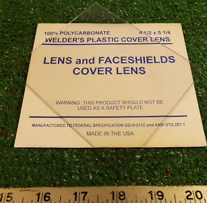 9 New Welder s Polycarbonate 4 1 2 X 5 1 4 Plastic Cover Lens make Offer