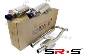 Srs Type Re Catback Exhaust System 2004 2008 Acura Tsx Dual Tip 04 05 06 Burn