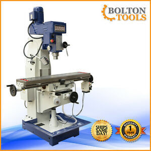 10 X 48 Vertical Knee Milling Machine Mill Drill W Power Feed Zx1048p 220v 1