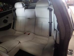 04 05 06 07 08 09 10 Bmw M6 Rear Leather Bench Seat Assembly White X3a9