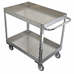 Grainge Stainless Steel Unassembled Utility Cart ss 41 L 1200 Lb 11a469 Silver