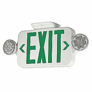 Hubbell Lighting Compass Exit Sign With Emergency Lights 3 2w Ccgrc