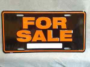 For Sale Sign License Plate Hot Rod Muscle Car Truck 4x4 Camaro Chevellle